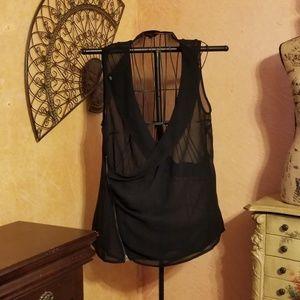 NWOT   SIMPLY BE sheer black blouse